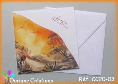 Carte carree peinte a la cire cc20 03