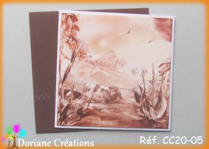 Carte carree peinte a la cire cc20 05