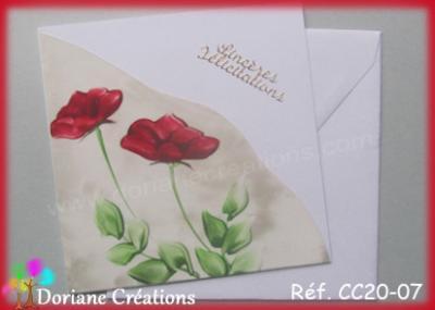 carte roses rouges félicitations