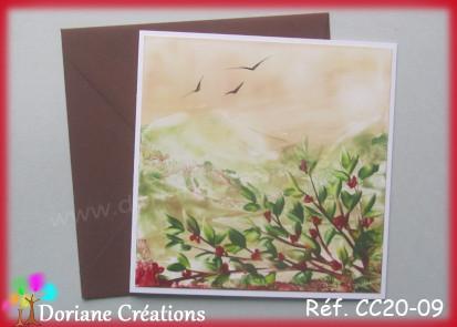 Carte carree peinte a la cire cc20 09