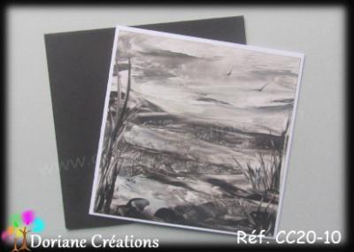 carte paysage en noir et blanc