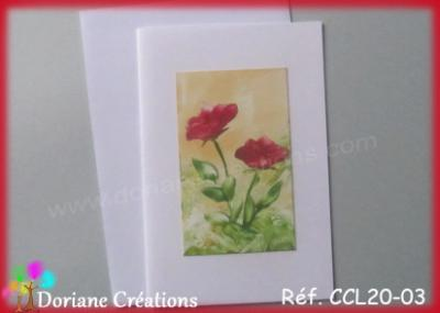 carte roses rouges 10x15