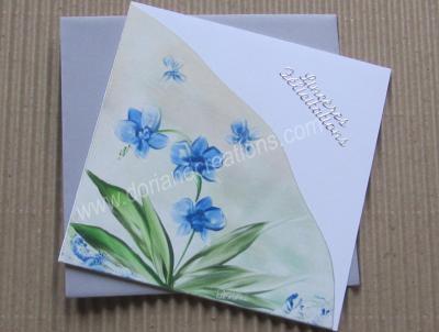 03- carte félicitations avec orchidées bleues