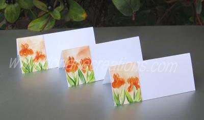 07- chevalets de table peints à la cire thème iris Réf.CT07