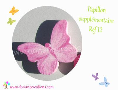 Decor papillon pour prenom bois