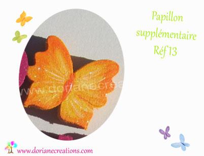Decor papillon pour prenom en bois