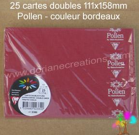 Gamme pollen de clairefontaine carte double 111x158mm bordeaux