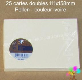 Gamme pollen de clairefontaine carte double 111x158mm ivoire
