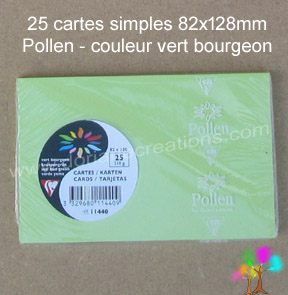 Gamme pollen de clairefontaine carte simple 82x128mm vert bourgeon