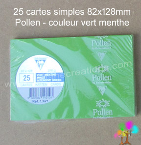 Gamme pollen de clairefontaine carte simple 82x128mm vert menthe