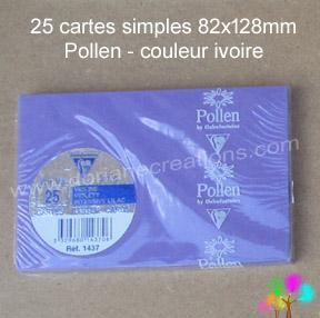 Gamme pollen de clairefontaine carte simple 82x128mm violine
