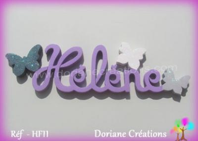 Prénom lettres en bois Hélène