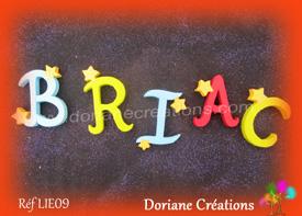 Lettres bois etoiles prenom briac