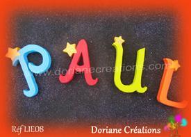 Lettres bois etoiles prenom paul