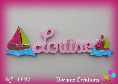 Lettres bois louise bateaux