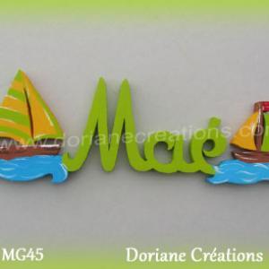 Lettres bois mae bateaux