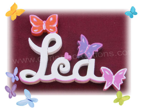 Lettres bois papillons 3l