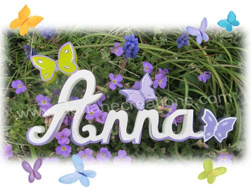 Lettres bois papillons 4l