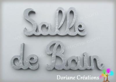 Lettres bois Salle de Bain
