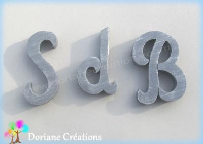 Lettres bois initiales Salle de Bain
