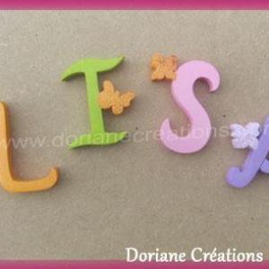 Lettres murales bois lisa