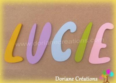 Lettres bois murales majuscules Willful - 7, 12 ou 20cm