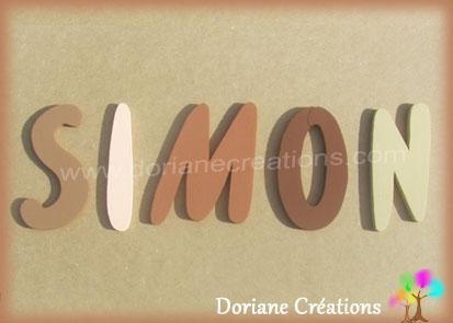 Lettres murales bois majuscules simon willful