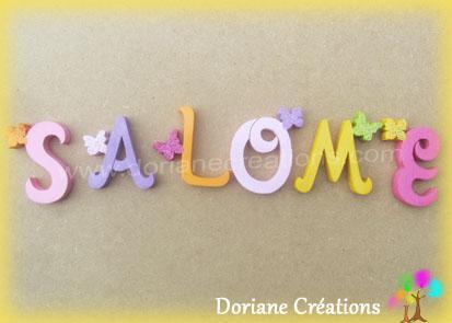 Lettres murales bois salome