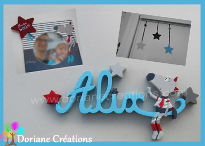 Lettres prenom bois alix