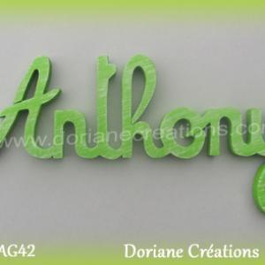 Lettres prenom bois anthony