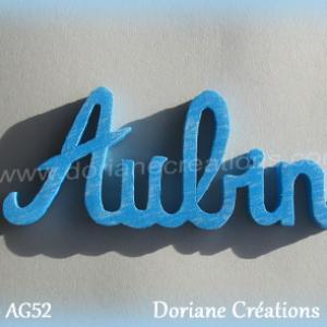Lettres prenom bois aubin