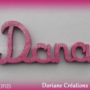 Lettres prenom bois dana