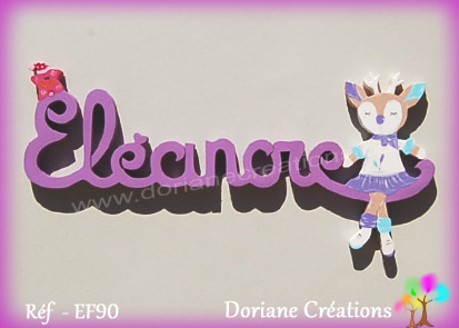 Lettres prenom bois eleanore