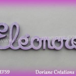 Lettres prenom bois eleonore
