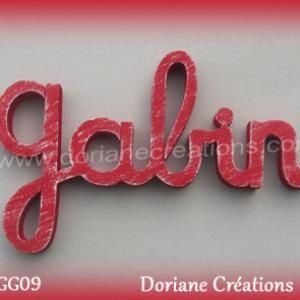 Lettres prenom bois gabin