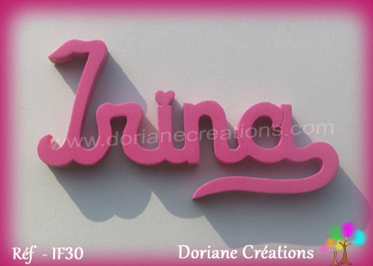 Lettres prenom bois irina