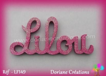 Lettres prenom bois lilou