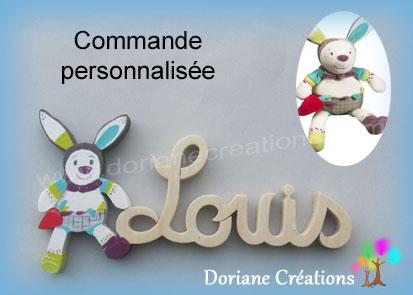 Lettres prenom bois louis