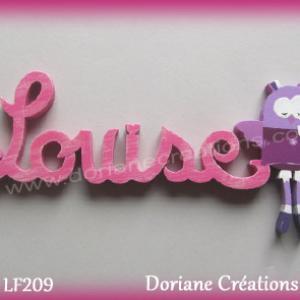 Lettres prenom bois louise