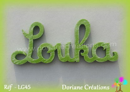 Lettres prenom bois louka