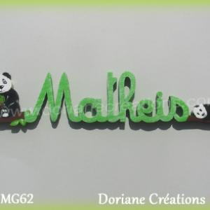 Lettres prenom bois matheis avec pandas