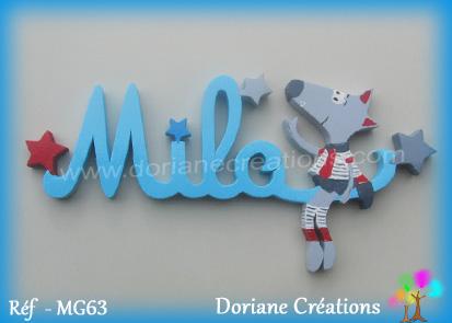 Lettres prenom bois milo