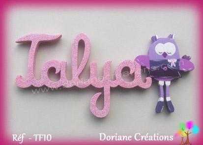 Lettres prenom bois talya
