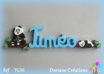 Lettres prenom bois timeo avec pandas