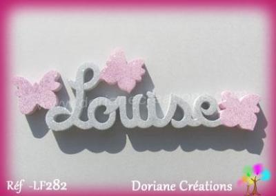 Prénom lettres en bois Louise