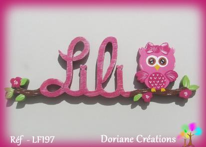 Lili prenom en bois