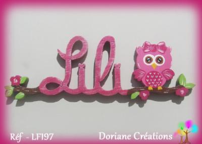 Prénom lettres en bois Lili