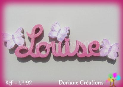 Louise prenom en bois
