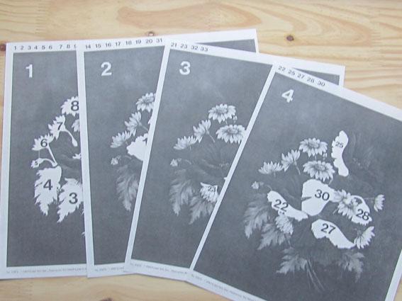 Methode papier 3d bouquet coquelicot