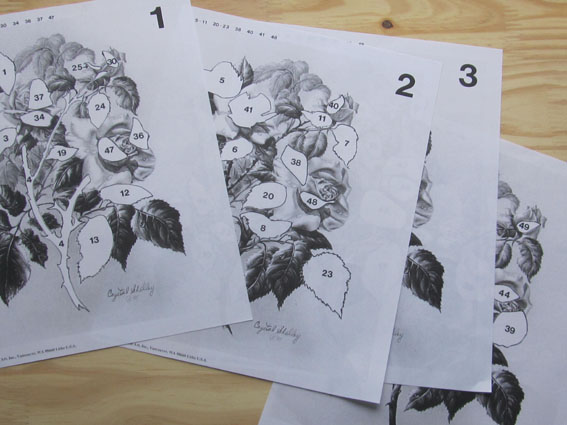 Methode papier 3d bouquet roses
